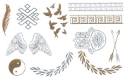 Gold Flash Tattoos, Golden Skin Tattoos, Temporary Tattoos, Tattoo Jewellery, DK7A