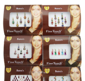 Indian Traditional Bollywood MulticolourForehead Decoration Bindi Pack Of 4