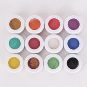YESURPRISE New Fashion 12 colours Assorted Make up Mineral Eye Shadow Pigments Glitter Art Cosmetics Eyeshadow Gift