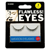 Invero® Pair of Black Quality Stylish Natural Fake False Eyelashes Eye Lashes with Glue