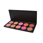 Zotop Professional 10 Colour Makeup Cosmetic Blush Blusher Palette Kit Set