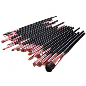 Lychee 20Pcs Professional Cosmetic Makeup Brushes Powder Foundation Eyeshadow Eyeliner Lip Make up Set