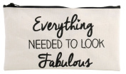 Ab Fab Make Up Bag with slogan 'Everything Needed To Look Fabulous'