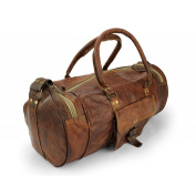 A.P. Donovan - Small leather luggage bag handmade Free Leather Care 40cm x 20cm x 20cm - around