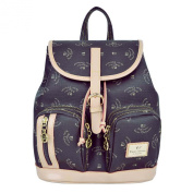 V100 Walter Valentino Leather Trim Backpack