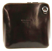 Vera Pelle Genuine Italian Leather Womens Cross Body Bag