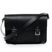 Scotch & Vain satchel - shoulder bag TESSA fits iPad - college bag with shoulder strap black leather