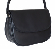 Women's Navy Blue Leather Shoulder Bag