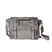 Woman bags hadmade in aged leather with strap and flap DUDU Ash Grey