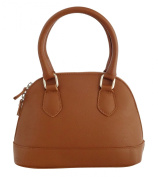 BETTY Top-Handle-Handbags Women's Bags Handcraft Genuine Leather Made in Italy-Brown