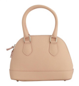 BETTY Top-Handle-Handbags Women's Bags Handcraft Genuine Leather Made in Italy-Pink