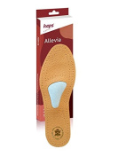 Orthotic leather shoe insoles with metatarsal arch support and cushion, Kaps Allevia, all sizes