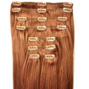 FULL HEAD of 100% Human Hair, Clip-in Hair Extensions - 50cm , Deluxe, Quality A Grade, Remy Hair. GREAT VALUE, 140 grammes of remy hair (150 grammes set weight) - TRIPLE WEFT.
