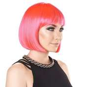 The Party Wig - Short Bob - Electric Pink