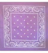 Lavender Bandanna - Paisley