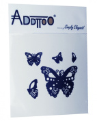 Addttoo Feature Tattoo - Black Butterflies Design