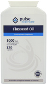 Pulse Healthcare 1000mg Flaxseed Oil Premium Quality GMP Supplement - Pack of 120 Capsules