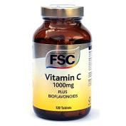 FSC Vitamin C 1000mg Plus Bioflavonoids 120 Tablets