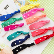 5x Women Pearl Hair Band Elastic Fashion Colourful Lady Girl Ponytail Holder Knot Lovely Elegant Hair Accessiories Beautiful Hair Tie Must Have For Girl