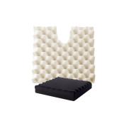 Coccyx Ripple Cushion 10cm , Black, Medium