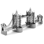 Novelty DIY Handcraft Building Toy Blocks 3D Assembly Puzzle Model Stainless steel Assembled Jigsaw Puzzle [ London Bridge ] Size:5.5*6.1cm