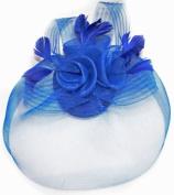 Royal Blue Net Fascinator Hat Veil - Wedding Ascot Races Hair Accessories Clip