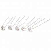 10 Wedding Prom Flower Crystal Hair Pins Sticks Clips 6.2cm