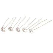 10 Wedding Prom Flower Crystal Hair Pins Sticks Clips 6.2cm