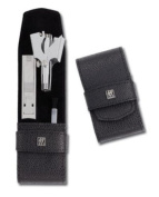 Henckels Twinox 97106-004 Manicure Set Dauphine Black-2 Pieces-Nail Clipper-Nose Hair Trimmer