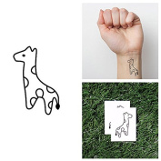 Itty Bitty- Baby Giraffe Outline Object Temporary Tattoo