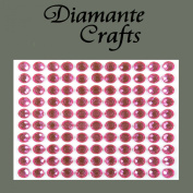 110 x 6mm Hot Pink Diamante Self Adhesvie Rhinestone Body Vajazzle Gems - created exclusively for Diamante Crafts