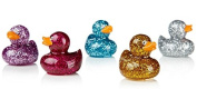 Glitter Ducky Lip Balm Pack of All 5 Colours And Flavours Raspberry, Strawberry, Coconut, Creme Brulee & Blueberry