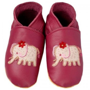 Daisy Roots Elephant Baby Shoes Soft Plum Leather