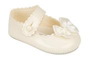 BNIB baby girls Baypod first pram shoes in pink-black - red or white 4 sizes