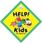 Help Kids on Board Car Sign, Baby on Board, Baby on Board Sign, Kid's on Board, Children On Board, Bumper Sticker