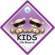 Baby On Board Car Sign, Kids On Board Sign PURPLE Cool, baby on board, Baby Car Sign