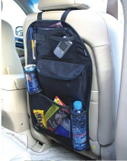 Kabalo Universal Back Seat Car Organiser with Drinks / Umbrella Holder and 7 separate hook and loop sealed storage compartments. Height 55cm x Width 36cm