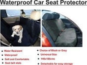 Heavy Duty Grey Water Resistant Car Rear Seat Protector Pet Cover Large Size 140x150cms