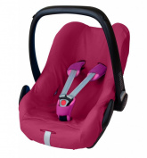 ByBoom® - Summer cover / protective cover - made from 100% cotton, universal cover for infant and child car seats eg. Maxi Cosi Cabrio Fix, Pebble, City SPS, Colour:Fuchsia