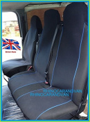 Volkswagen VW Transporter T2 T3 T4 T5 Deluxe van Seat Covers Single Drivers And Double Passengers Seat Covers Black And yellow Piping