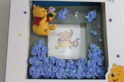 Disney Winnie The Pooh Character Mini Photo Frame 3D Hand Painted 9 x 9 x 1.5cm,