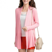 LOCOMO Plain Colour Ribbed Waterfall Ruffle Flared Hem Cardigan FFJ028GRN