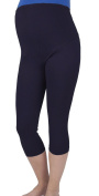 Comfortable maternity cropped 3/4 leggings with panel 3004