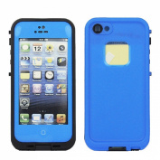 PC Waterproof Shockproof Dirt Dust Proof Hard Cover Case For Apple iPhone 5 5S Colour=Deep Blue
