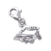 Graduate Sterling Silver Clip on Charm by Kate Benson - fits Thomas Sabo