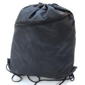 Drawstring Bag Backpack Rucksack School Book Bag With Corner Protectors / Large Front Zipped Pocket / Built- In Slot for Earphones Headphones / Sport Gym Swim PE Football Karate Ju-Jitsu Running Swimming Boxing Judo Netball Bag 'Brand New'