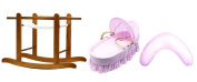 Kinder Valley Baby Bundle Moses Nursing Pillow and Stand