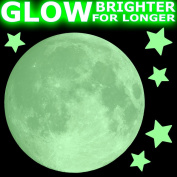REAL MOON AND STARS Glow-in-the-Dark stickers - LARGE