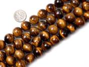 """14mm Round gemstone tiger eye stone beads strand 15"""""""