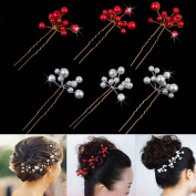 HuntGold 3X Wedding Party Bridal Shake Artificial Beads Hair Comb Claw Hair Hairpin Hair Ornaments Accessory